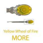 More Wheel of Fire Mandala, Yellow Green