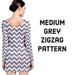 Medium Grey & White ZigZag pattern