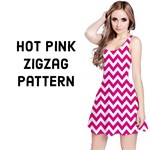 Hot Pink & White ZigZag pattern