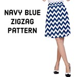 Navy Blue & White ZigZag pattern