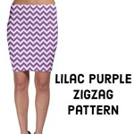 Lilac Purple & White ZigZag pattern