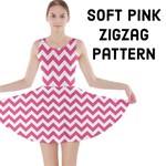 Soft Pink & White ZigZag pattern