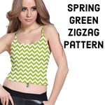 Spring Green & White ZigZag pattern