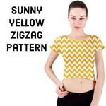 Sunny Yellow & White ZigZag pattern