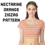 Tangerine Orange & White ZigZag pattern