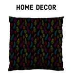 Bright on Black feather pattern- Home Decor
