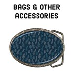 Midnight Blue Feathers - bags & other accessories