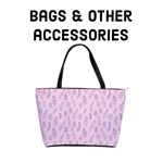 Pink & Purple feather pattern - bags & accessories