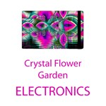 Electronics Crystal Flower Garden, Abstract Teal Violet