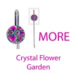 More Crystal Flower Garden, Abstract Teal Violet