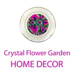 Home Decor Crystal Flower Garden, Abstract Teal Violet