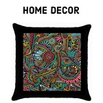 Colorful Hippie flowers - Home Decor