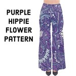 Purple Hippie Flowers pattern