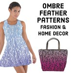Ombre Feather Pattern