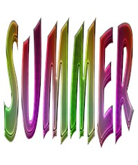 summer colorful rainbow gradient typography happy colors sunny holiday text