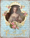 young marie with ornate frame and roses