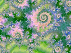 rose apple green dreams abstract water garden