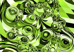 retro green abstract