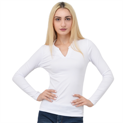 V-Neck Long Sleeve Top Icon