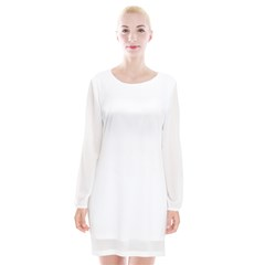 Long Sleeve Chiffon Shift Dress  Icon