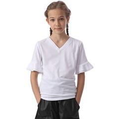 Kids  V-Neck Horn Sleeve Blouse Icon