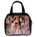 Four Seasons by Alphonse Mucha 1895 Classic Handbag (Two Sides)