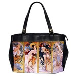 Four Seasons by Alphonse Mucha 1895 Oversize Office Handbag (Two Sides)