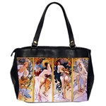 Four Seasons by Alphonse Mucha 1895 Oversize Office Handbag (Two Sides) from Manda s Macabre Back