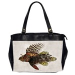 Vintage Lionfish Oversize Office Handbag (Two Sides)