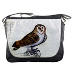 Vintage Owl Illustration Messenger Bag