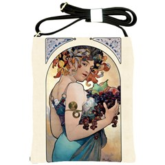 Fruit by Alfons Mucha 1897 Shoulder Sling Bag from Manda s Macabre Front