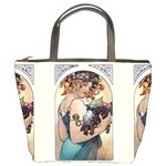 Fruit by Alfons Mucha 1897 Bucket Bag