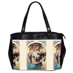 Fruit by Alfons Mucha 1897 Oversize Office Handbag (Two Sides)