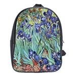 Irises by Vincent van Gogh 1898 School Bag (Large)