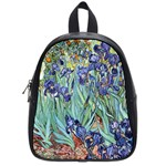 Irises by Vincent van Gogh 1898 School Bag (Small)