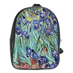 Irises by Vincent van Gogh 1898 School Bag (XL)