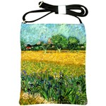 View Of Arles With Irises In The Foreground By Vincent Van Gogh 1888  Shoulder Sling Bag