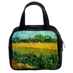 View Of Arles With Irises In The Foreground By Vincent Van Gogh 1888  Classic Handbag (Two Sides)
