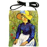 Young Peasant Girl By Vincent Van Gogh 1890 Shoulder Sling Bag