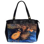 A Pair Of Shoes By Vincent Van Gogh 1887 Oversize Office Handbag (Two Sides)