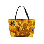 Vase With Fifteen Sunflowers By Vincent Van Gogh 1888 Classic Shoulder Handbag