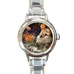 Prophetess By Alfons Mucha 1896 Round Italian Charm Watch