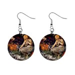 Prophetess By Alfons Mucha 1896 1  Button Earrings