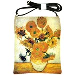 Vase With Fifteen Sunflowers By Vincent Van Gogh 1889 Shoulder Sling Bag