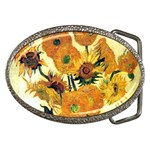 Vase With Fifteen Sunflowers By Vincent Van Gogh 1889 Belt Buckle