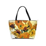 Vase With Fifteen Sunflowers By Vincent Van Gogh 1889 Classic Shoulder Handbag