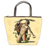 Mythology Educational Plate Bucket Bag
