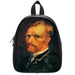 Self Portrait By Vincent Van Gogh 1886 School Bag (Small)