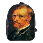 Self Portrait By Vincent Van Gogh 1886 School Bag (XL)