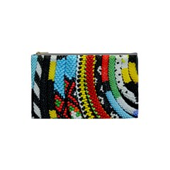 Multi Colored Beaded Background Small Makeup Purse by artattack4all